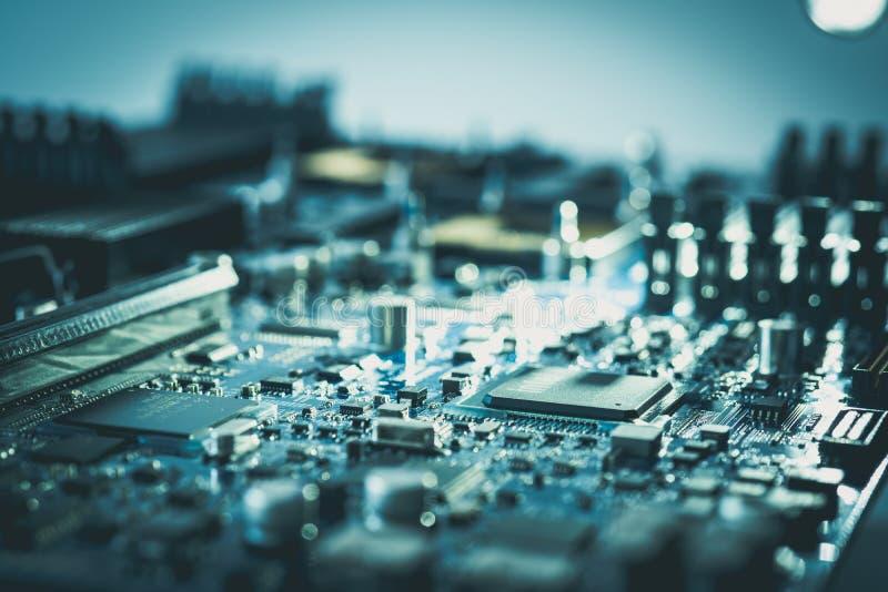Concetto elettronico c di tecnologia del pc della scheda madre del hardware immagini stock libere da diritti