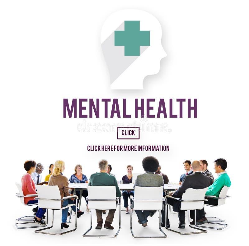 Concetto emozionale di psicologia della medicina di salute mentale immagini stock libere da diritti