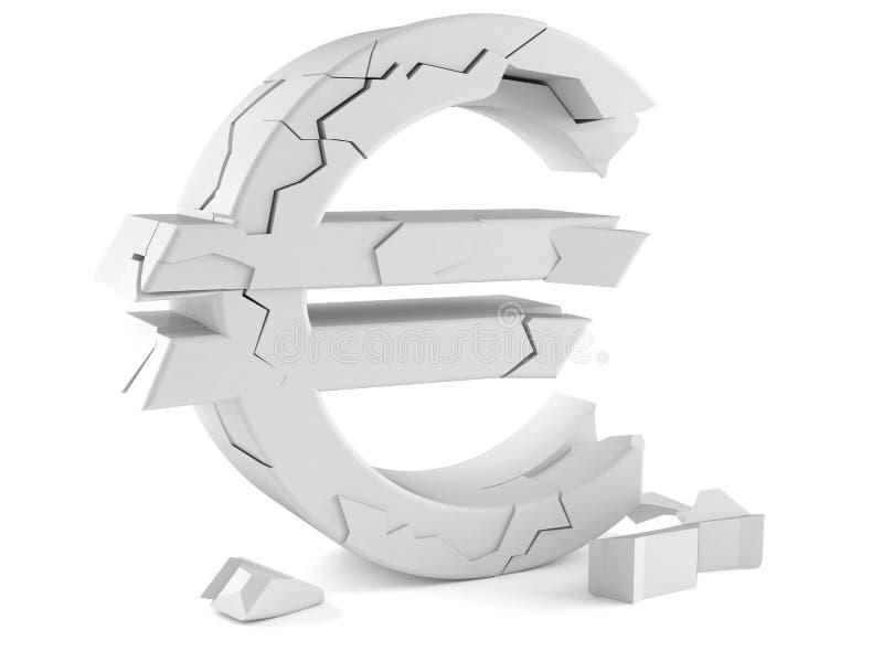 Concetto euro di disintegrazione royalty illustrazione gratis