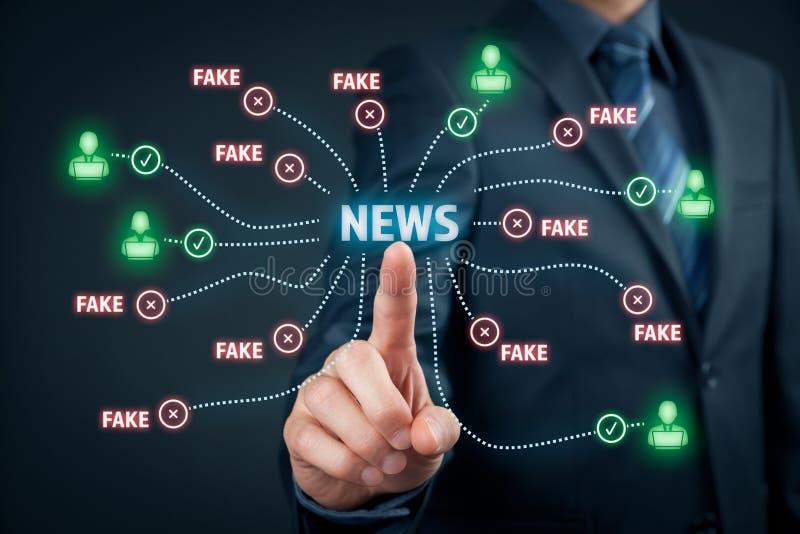 Concetto falso di notizie immagine stock libera da diritti