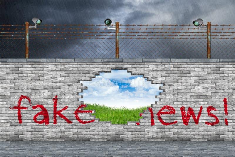 Concetto falso di notizie fotografie stock libere da diritti