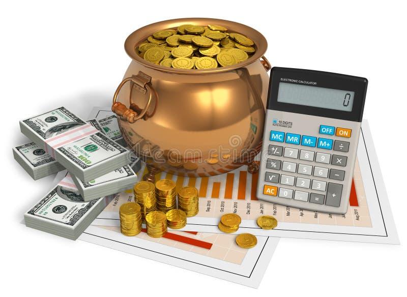 Concetto finanziario illustrazione di stock