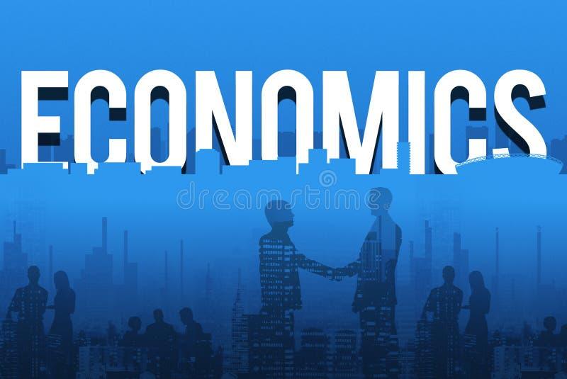 Concetto finanziario del simbolo di dollaro dei beni di economia fotografia stock libera da diritti