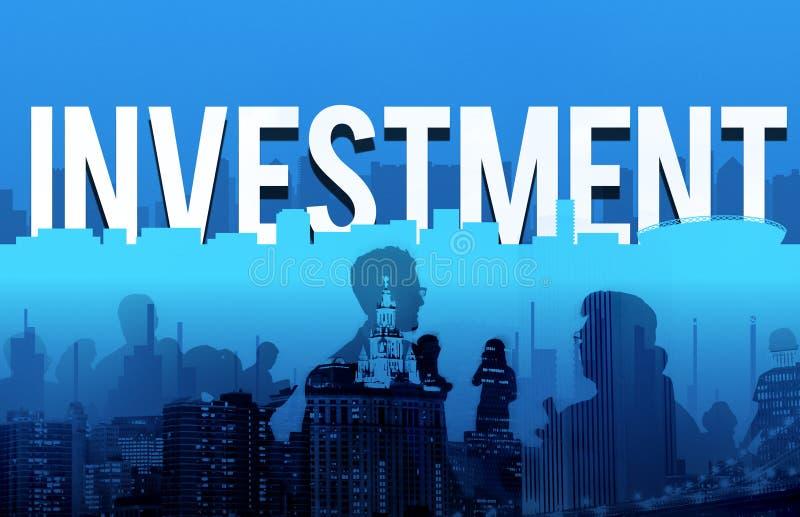 Concetto finanziario della gestione dei rischi dell'attività d'investimento fotografia stock libera da diritti