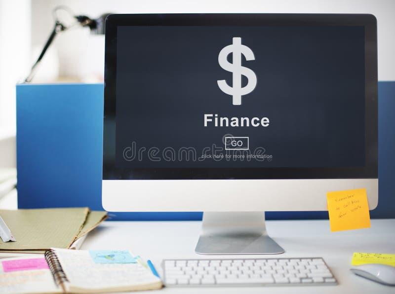 Concetto finanziario di contabilità del bilancio di economia di finanza immagini stock