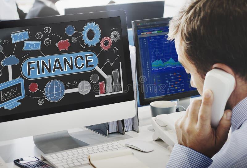 Concetto finanziario di contabilità del bilancio di economia di finanza fotografia stock libera da diritti