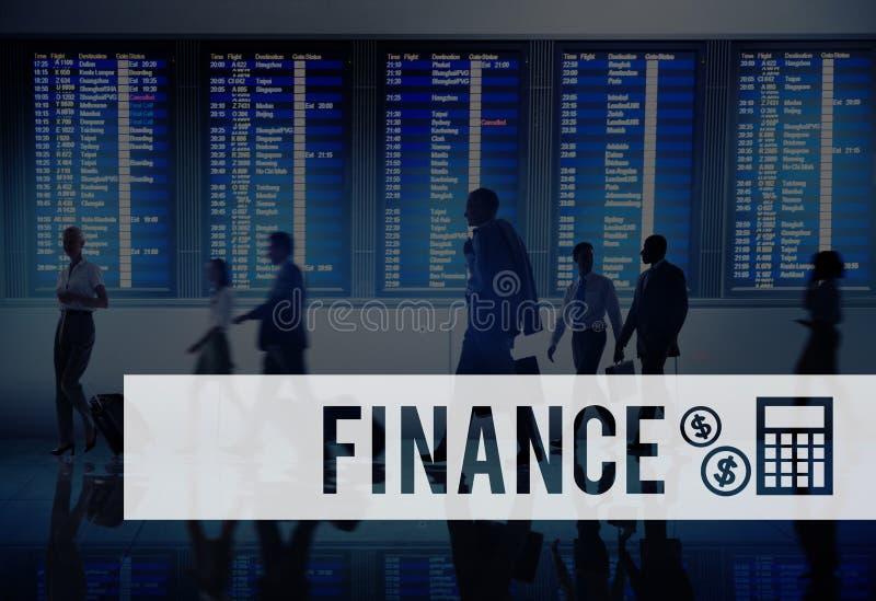 Concetto finanziario di contabilità del bilancio di economia di finanza fotografie stock