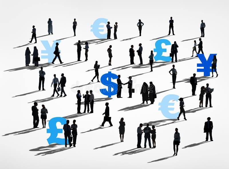 Concetto finanziario di finanza di affari globali della Comunità illustrazione vettoriale