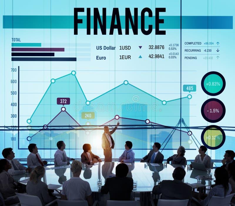 Concetto finanziario di profitto di settore bancario dei soldi di finanza immagini stock