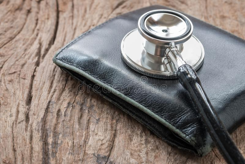 Concetto finanziario di salute fotografia stock