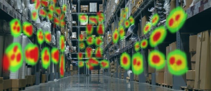 Concetto futuristico di realt? virtuale ed aumentato di tecnologia, rivenditore per usare tecnologia aumentata di realt? virtuale illustrazione di stock