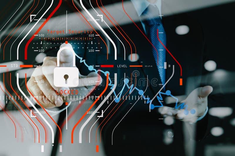 Concetto generale di regolamento (GDPR) e di sicurezza di protezione dei dati C fotografia stock