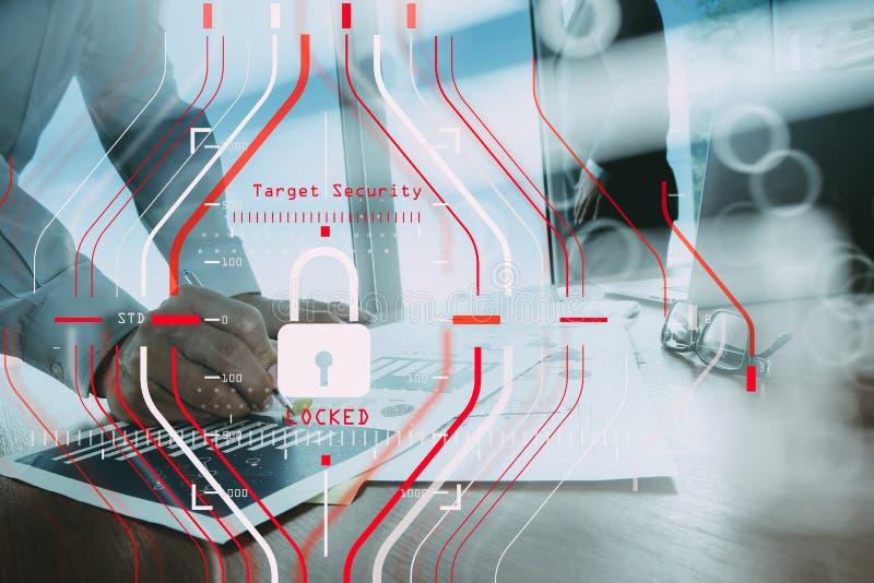 Concetto generale di regolamento GDPR e di sicurezza di protezione dei dati C fotografia stock