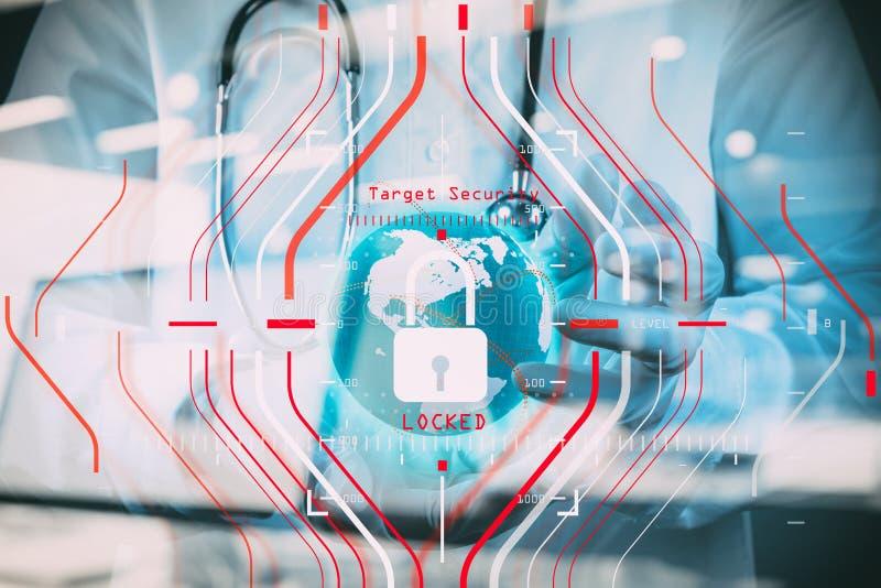 Concetto generale di regolamento (GDPR) e di sicurezza di protezione dei dati C immagini stock