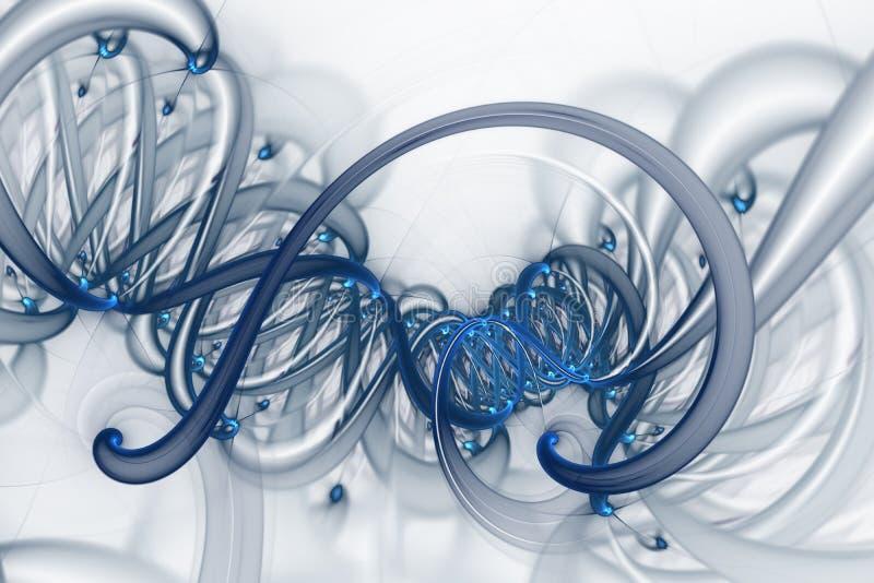 Concetto genetico di manipolazione del gene e di ingegneria Molecole e cromosomi dell'elica del DNA, filo del DNA, molecola o ato illustrazione di stock