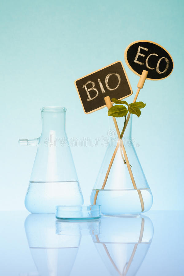 Concetto genetico di ricerca di Biotech o di ingegneria fotografia stock libera da diritti