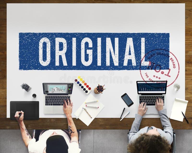 Concetto genuino originale del grafico di marca di brevetto di Copyright fotografie stock