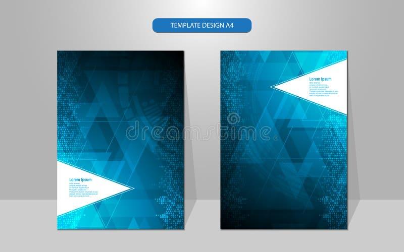 Concetto geometrico di tecnologia del modello del triangolo di progettazione della copertura dell'estratto di vettore ciao illustrazione vettoriale