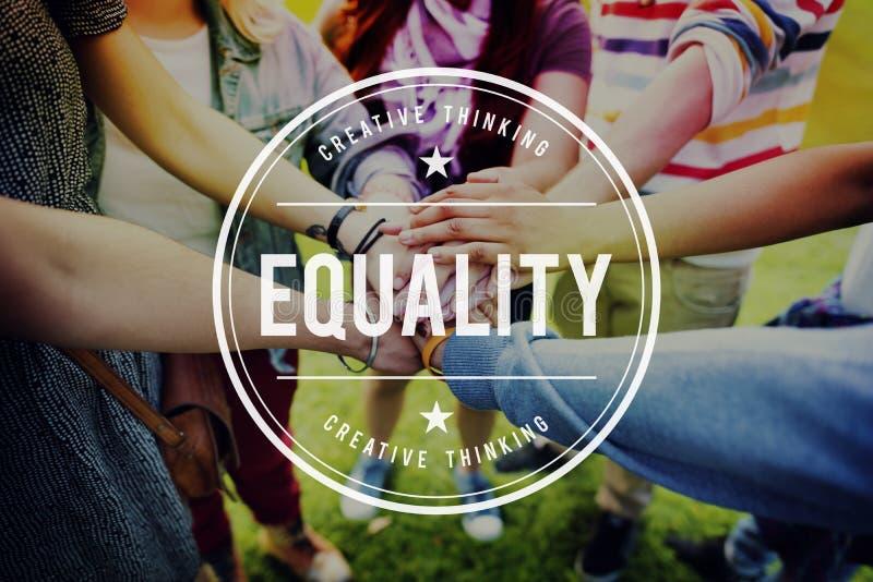 Concetto giusto di imparzialità dell'uguale dell'equilibrio di rispetto di parità di uguaglianza immagine stock libera da diritti