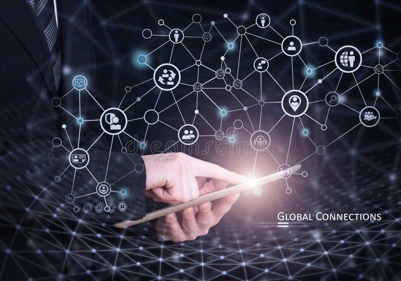 Concetto globale del collegamento immagine stock