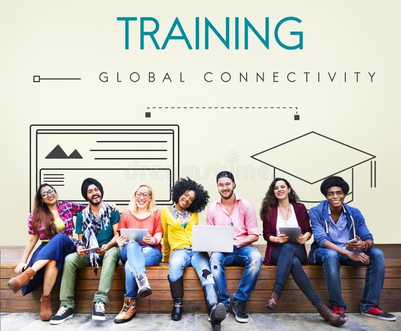 Concetto globale del grafico di connettività di istruzione fotografia stock libera da diritti