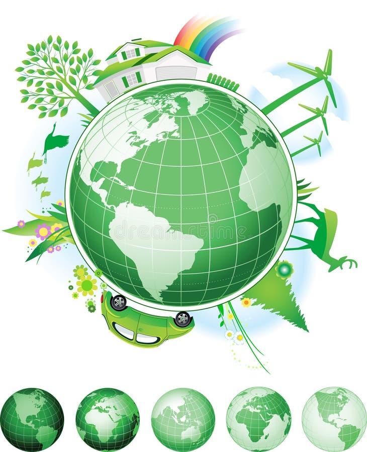 Concetto globale di conservazione. illustrazione vettoriale