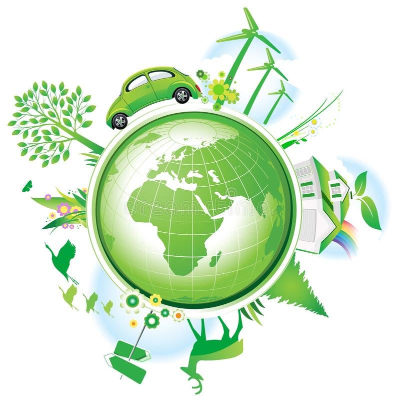 Concetto globale di conservazione. illustrazione di stock