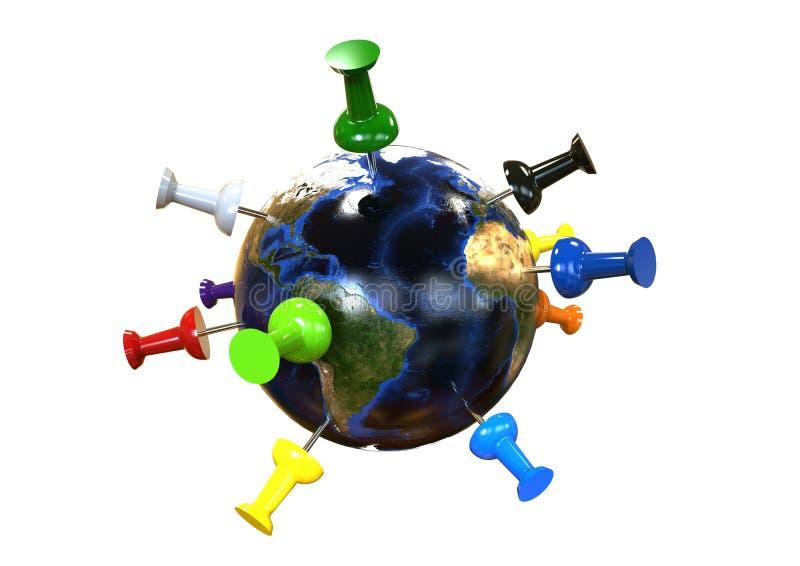Concetto globale di corsa illustrazione vettoriale