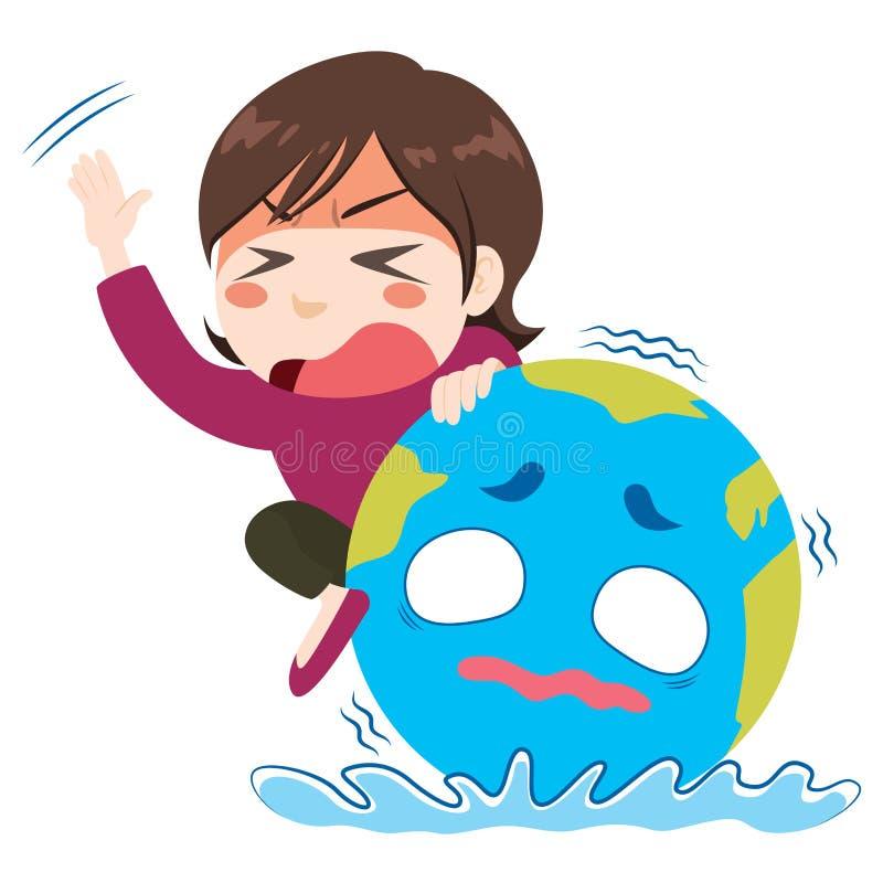 Concetto globale di panico di crisi royalty illustrazione gratis