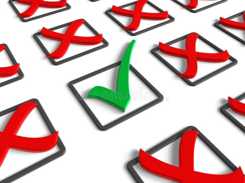 Concetto indagine/di voto illustrazione di stock