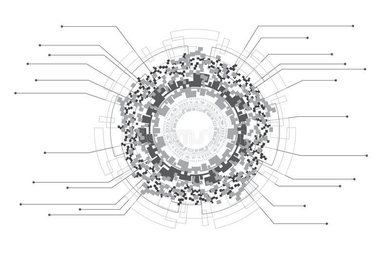 Concetto infographic di tecnologia di progettazione e di dati di Digital royalty illustrazione gratis