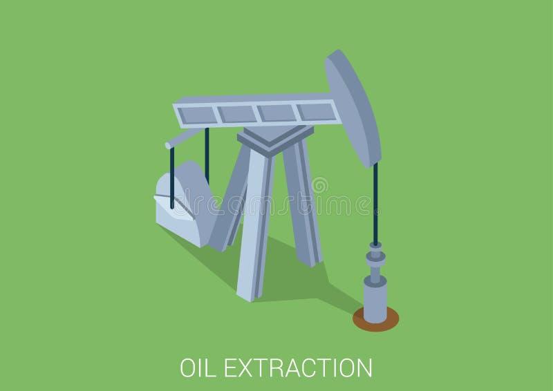 Concetto infographic isometrico di web piano 3d della torre di estrazione dell'olio royalty illustrazione gratis