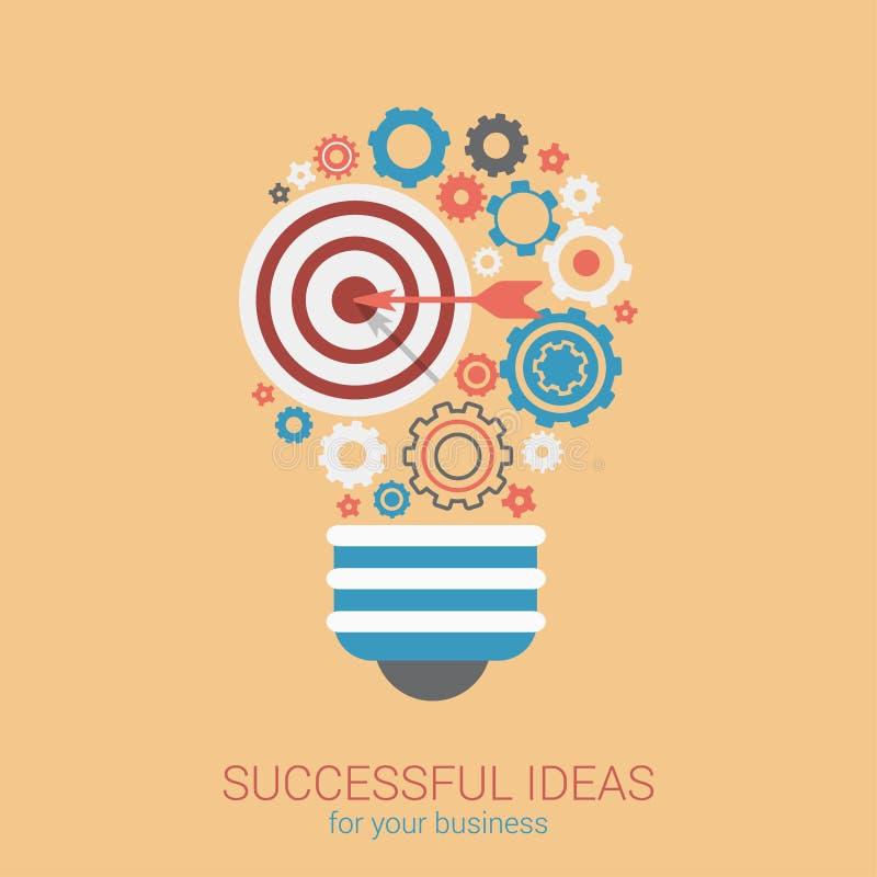 Concetto infographic moderno della lampadina dell'innovazione di idea di stile piano royalty illustrazione gratis