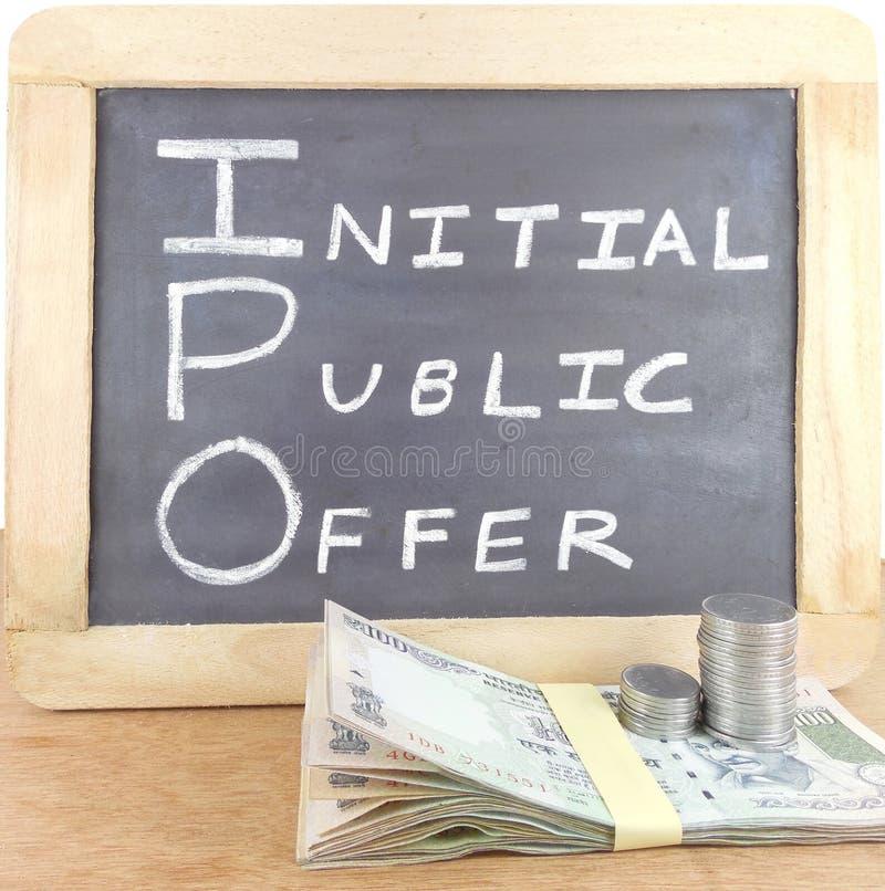 Concetto iniziale di offerta pubblica (IPO) immagini stock libere da diritti