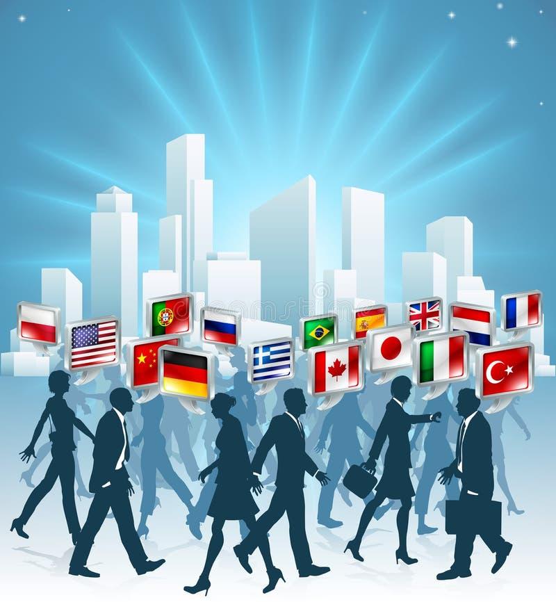 Concetto internazionale di affari illustrazione di stock
