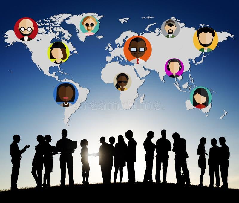 Concetto internazionale di nazionalità della Comunità della gente globale del mondo immagine stock libera da diritti