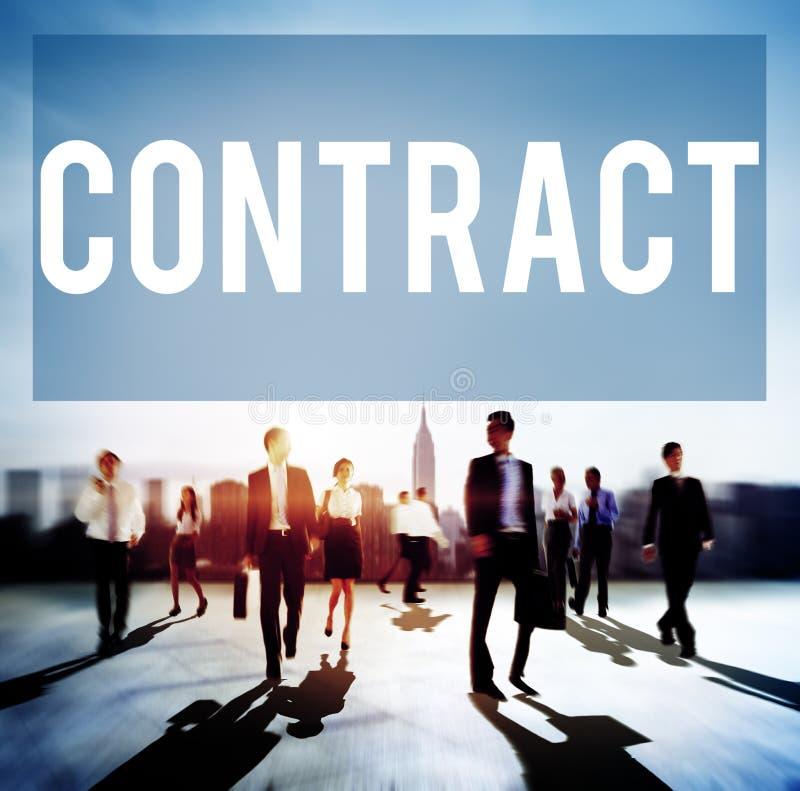 Concetto legale di affare di associazione di occupazione del contratto fotografie stock libere da diritti