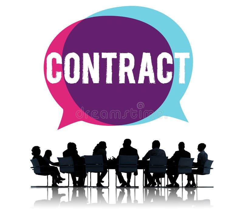 Concetto legale di affare di associazione di occupazione del contratto immagine stock libera da diritti