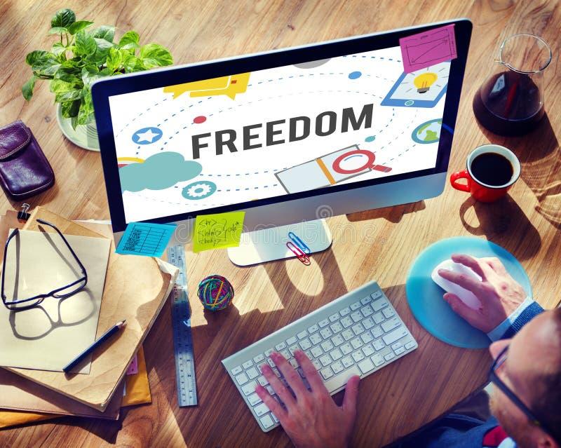 Concetto libero di indipendenza di emancipazione di ispirazione di libertà immagine stock libera da diritti