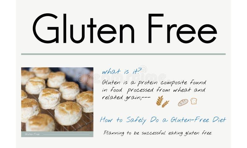 Concetto libero di malattia celiaca del glutine fotografia stock libera da diritti
