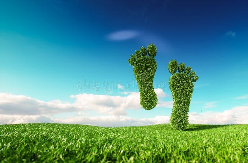 Concetto lifestile amichevole di eco sostenibile rappresentazione 3d delle FO illustrazione di stock