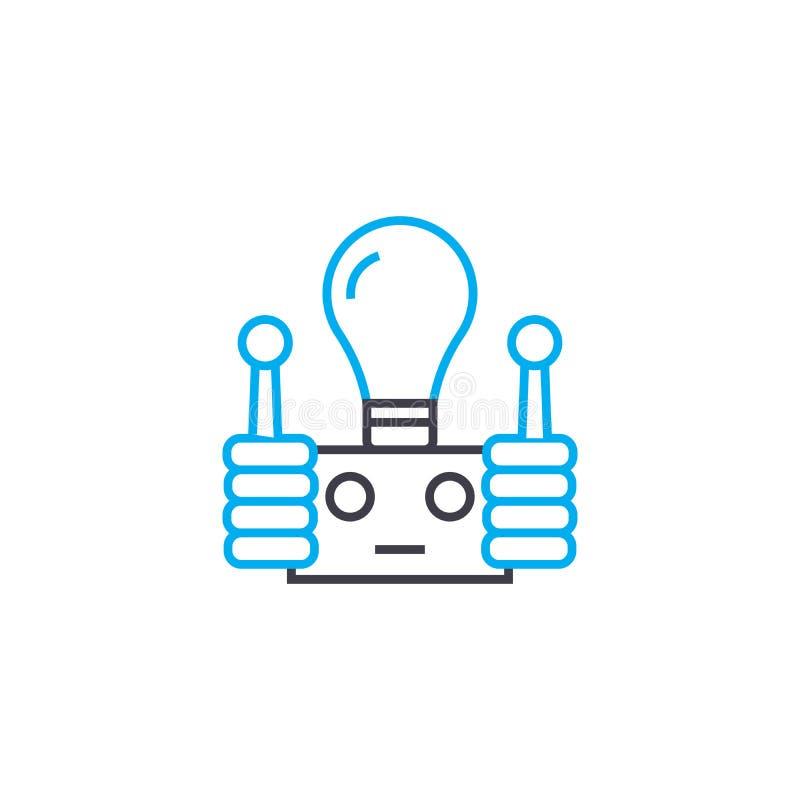 Concetto lineare dell'icona del materiale elettrico Linea segno di vettore, simbolo, illustrazione del materiale elettrico royalty illustrazione gratis
