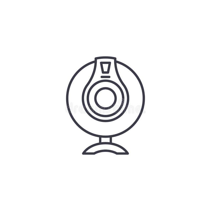 Concetto lineare dell'icona del webcam Linea segno di vettore, simbolo, illustrazione del webcam royalty illustrazione gratis
