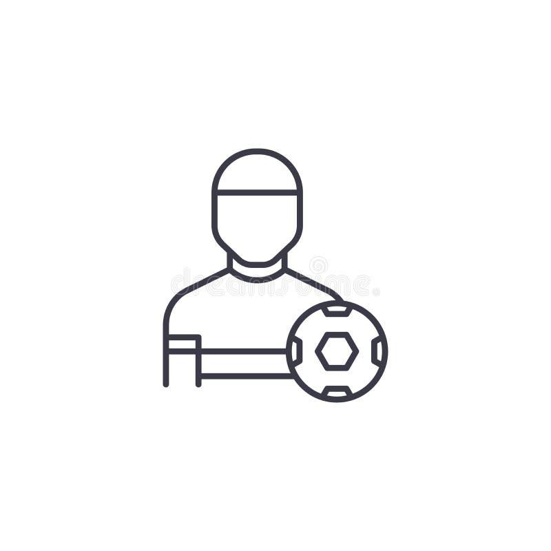 Concetto lineare dell'icona di addestramento fisico Linea segno di vettore, simbolo, illustrazione di addestramento fisico royalty illustrazione gratis