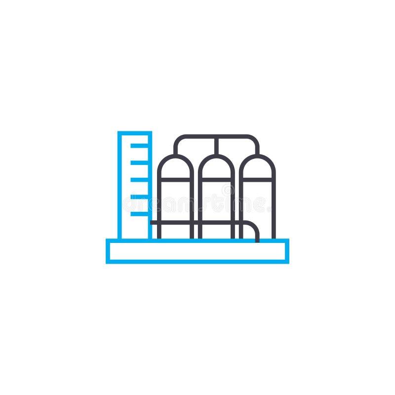 Concetto lineare dell'icona di impresa di fabbricazione Linea segno di vettore, simbolo, illustrazione di impresa di fabbricazion illustrazione vettoriale