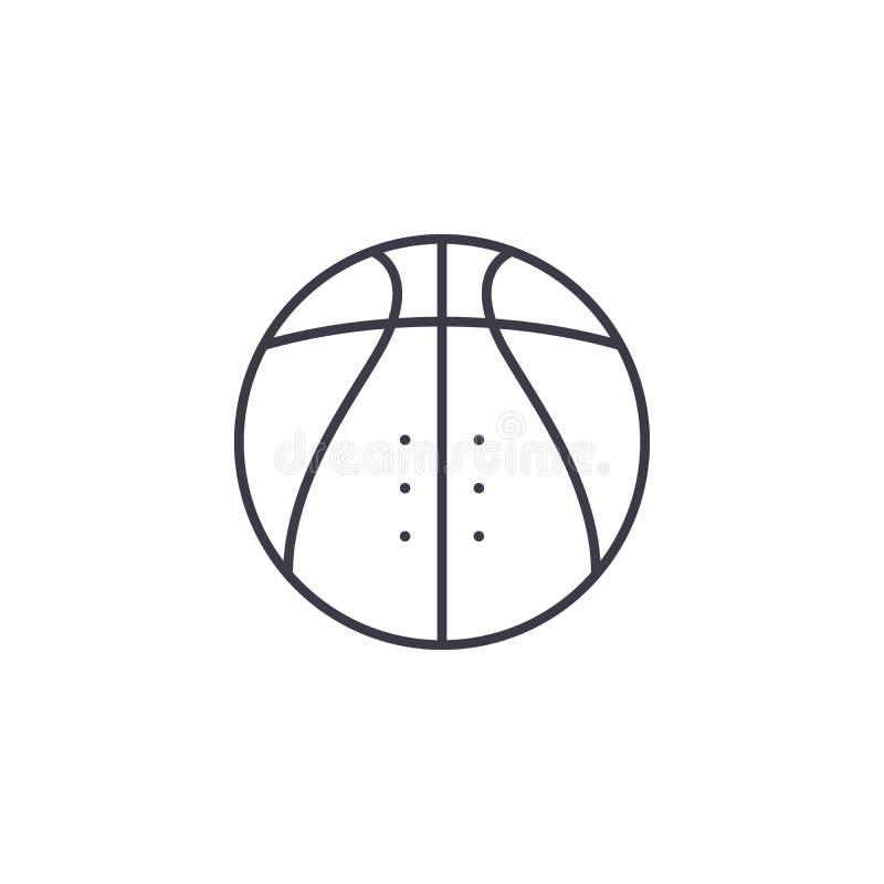Concetto lineare dell'icona di pallacanestro Linea segno di vettore, simbolo, illustrazione di pallacanestro royalty illustrazione gratis