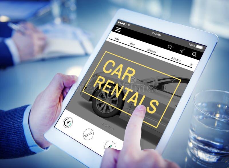 Concetto locativo del trasporto di Roadtrip di impresa degli autonoleggi immagini stock libere da diritti