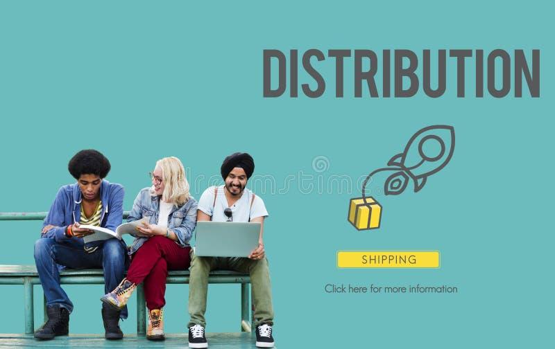 Concetto logistico di fabbricazione del trasporto del carico di distribuzione immagini stock libere da diritti