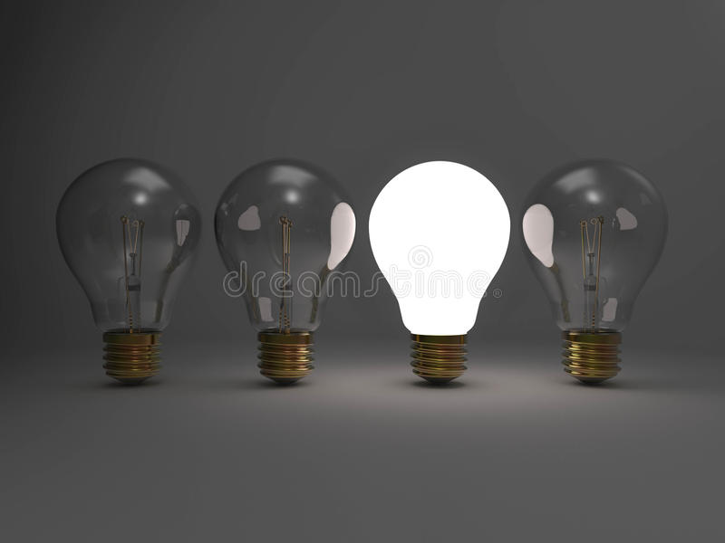 Concetto luminoso di idea illustrazione di stock