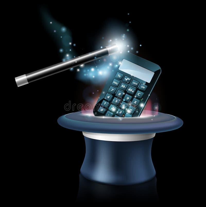 Concetto magico di per la matematica illustrazione di stock